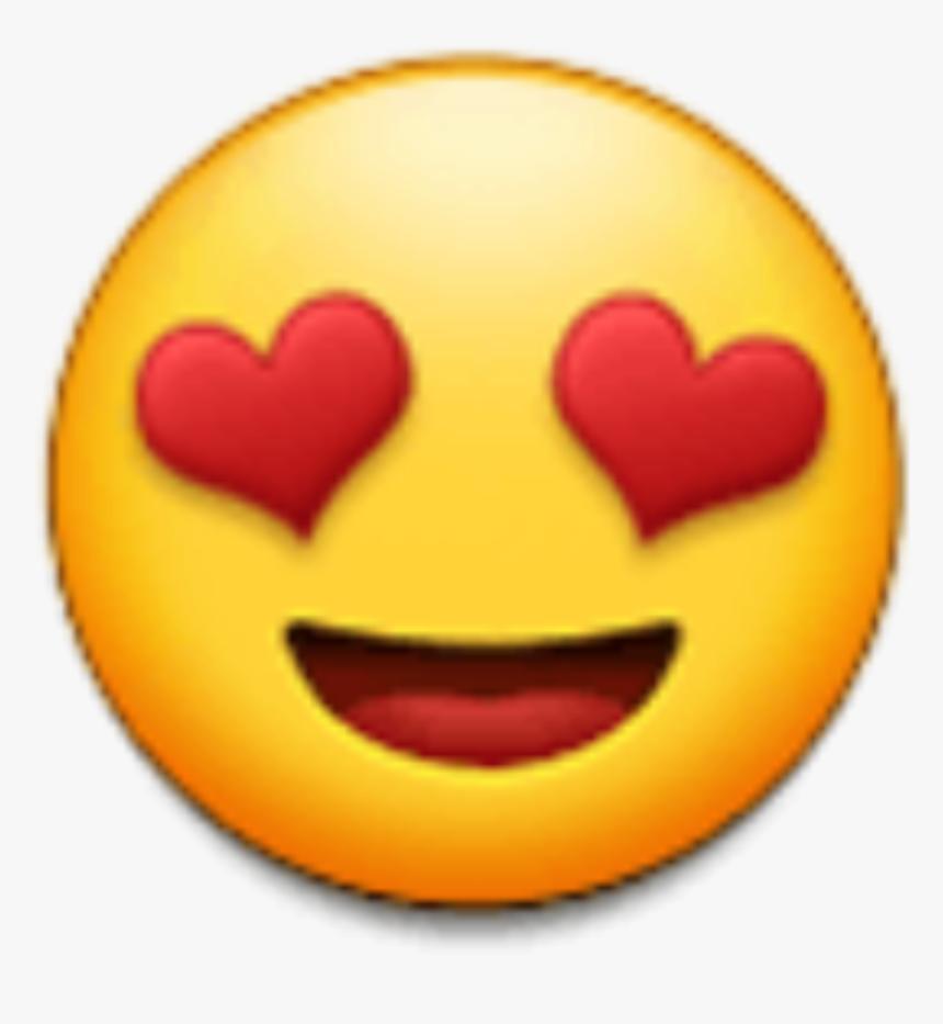 #emoji #yellow #heart #eyes #eye #smile #love #kpop - Samsung Heart Eyes Emoji, HD Png Download, Free Download