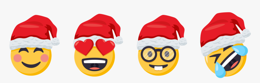 Forty All New Digital Stickers Are Here, Featuring - Emoji Heart Eyes Santa, HD Png Download, Free Download