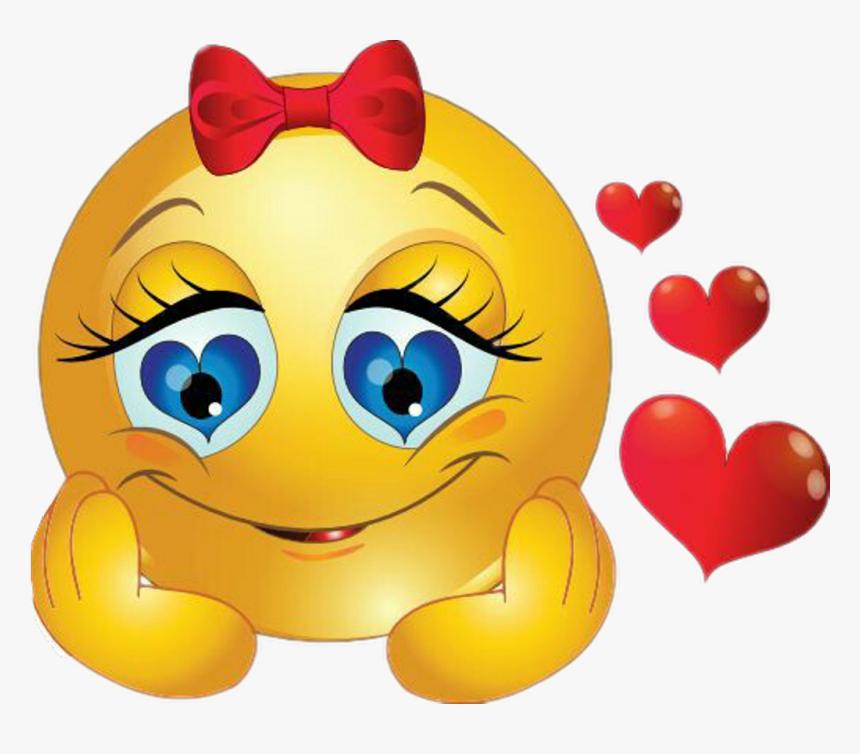 Emoji Girl In Love, Hd Png Download , Png Download - I M In Love Emoji, Transparent Png, Free Download
