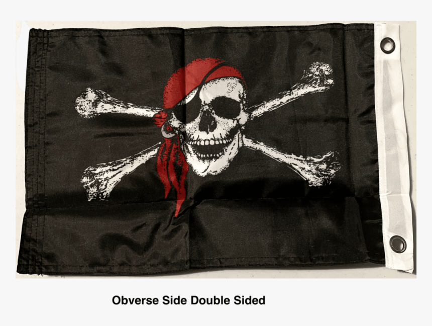 Ru Flag Inches Pirate Red Hat Flag - Jolly Roger Flag, HD Png Download, Free Download