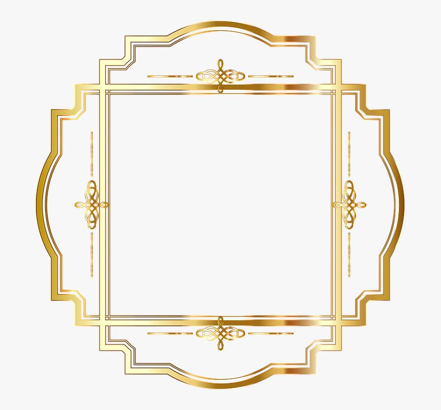 Gold Round Frame Png, Transparent Png, Free Download