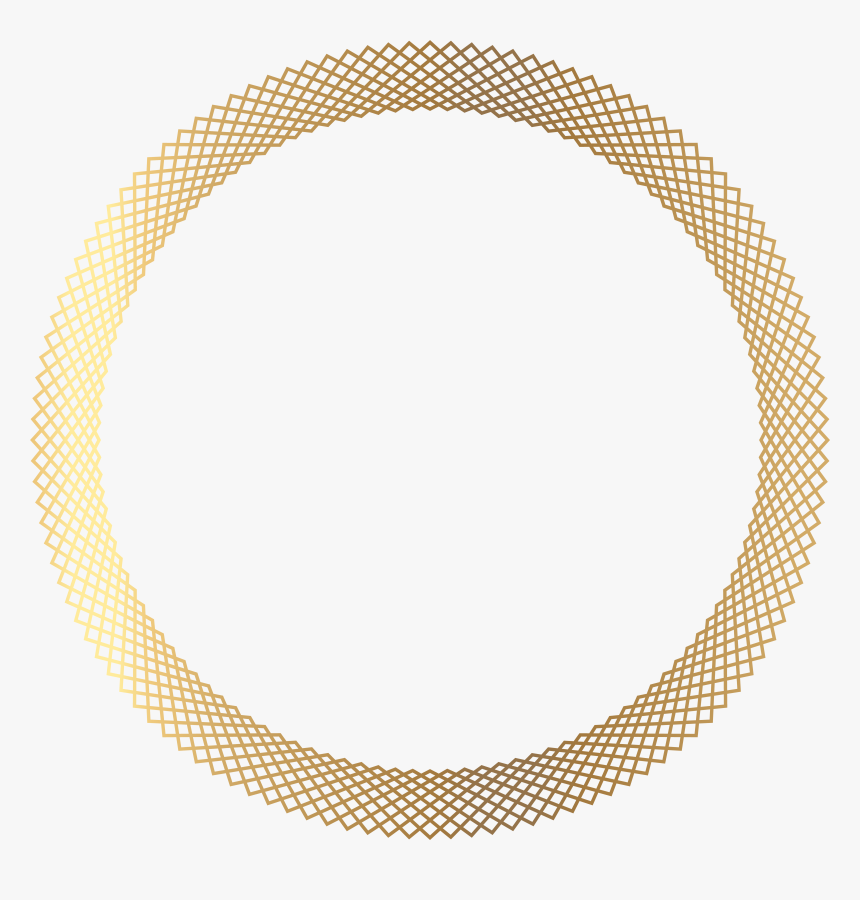 Clip Art Design Lines Golden Frame - Gold Circle Png Design, Transparent Png, Free Download