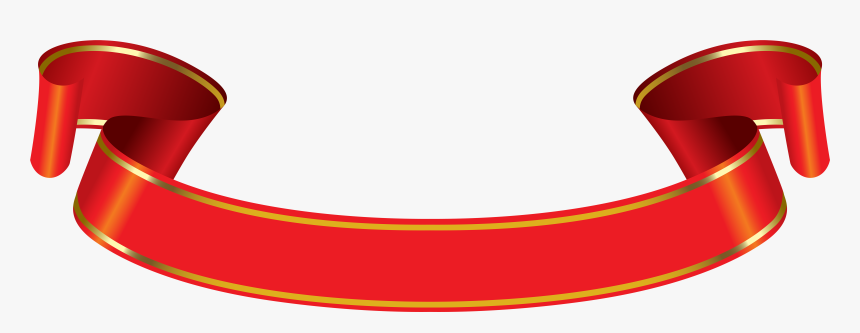 Png Red And Gold Banner - Red And Gold Ribbon Png, Transparent Png, Free Download