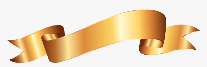 Gold Banner Png Clip Art Image - Gold Banner Clip Art, Transparent Png, Free Download