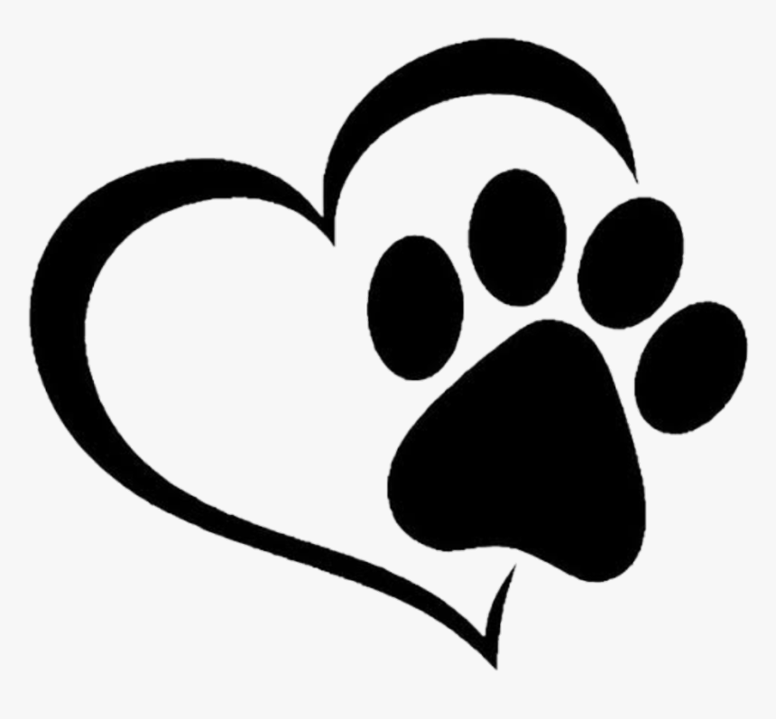 Transparent Paw Heart Clipart - Heart Cat Paw Print, HD Png Download, Free Download