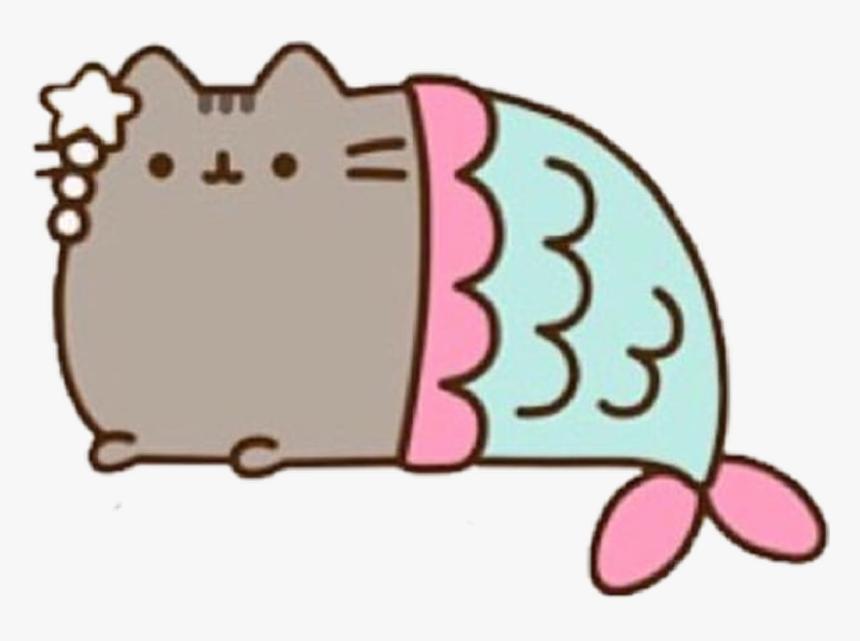 #love #martina #mermaid #pusheen #cat #sticker - Pusheen Cat Mermaid, HD Png Download, Free Download