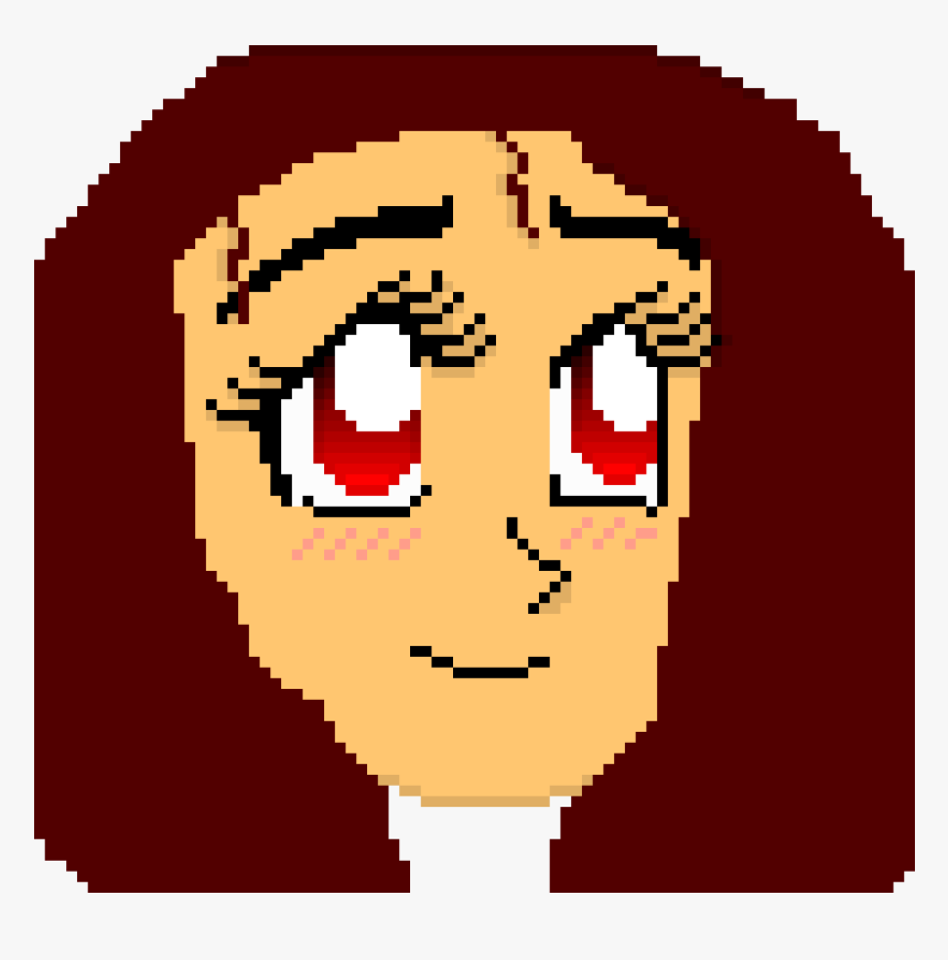 Pixel Art Anime Face, HD Png Download, Free Download