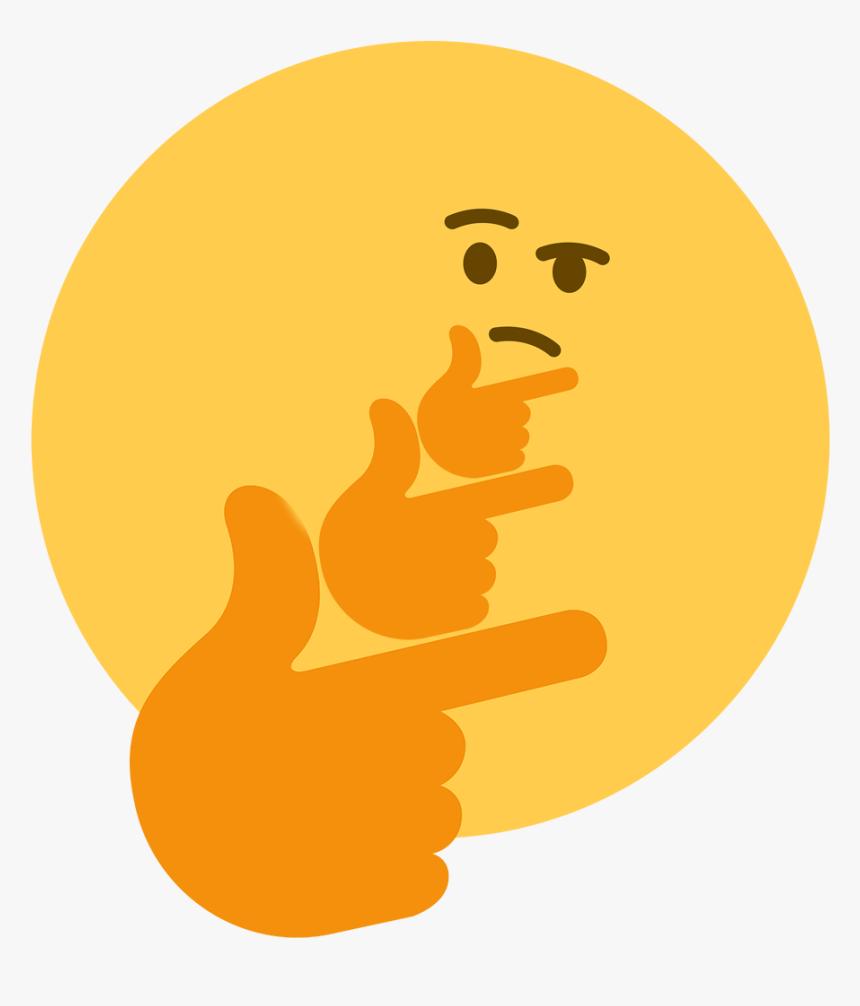 Thinking Emoji Meme Png, Transparent Png, Free Download