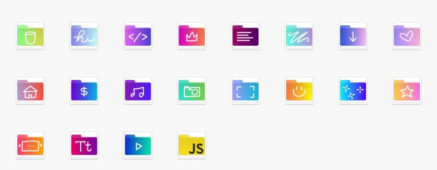 Icon Folder Set - Mac Folder Icons, HD Png Download, Free Download