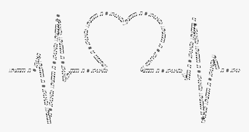 Text,line Art,heart - Heart Waves Png Music, Transparent Png, Free Download