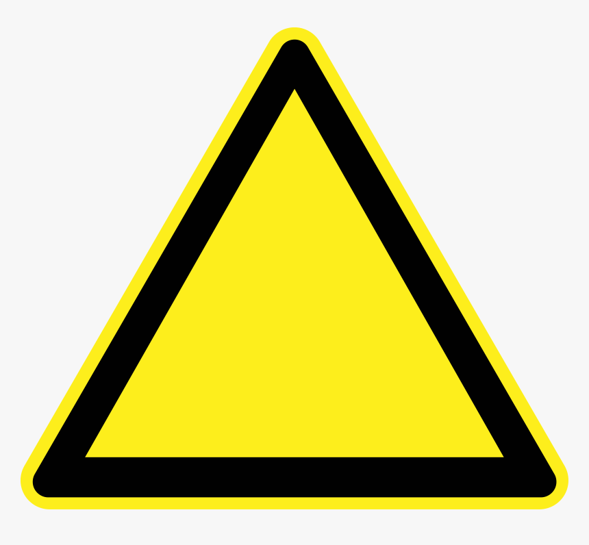 Blank Warning Sign Clip Arts - Blank Yellow Warning Signs, HD Png Download, Free Download