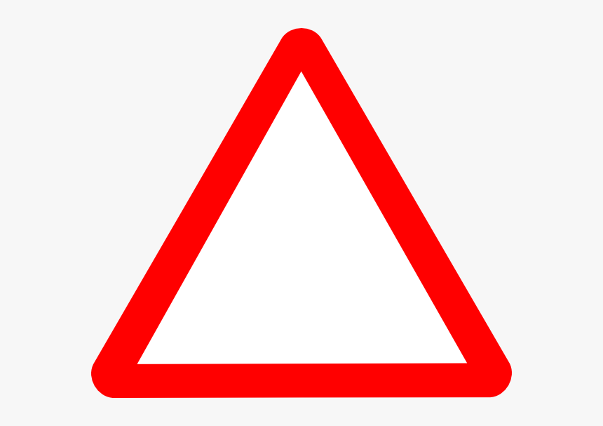 Triangular Clipart Warning - Blank Triangle Road Sign, HD Png Download, Free Download