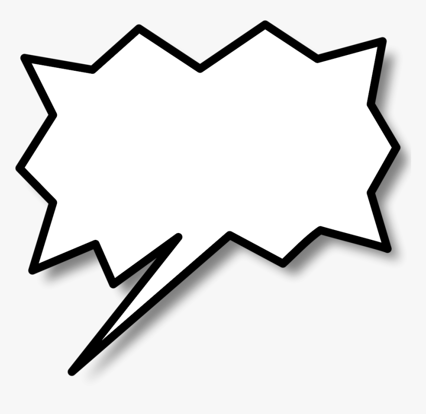 Comic Book Text Bubble Png - Comic Call Out Png, Transparent Png, Free Download