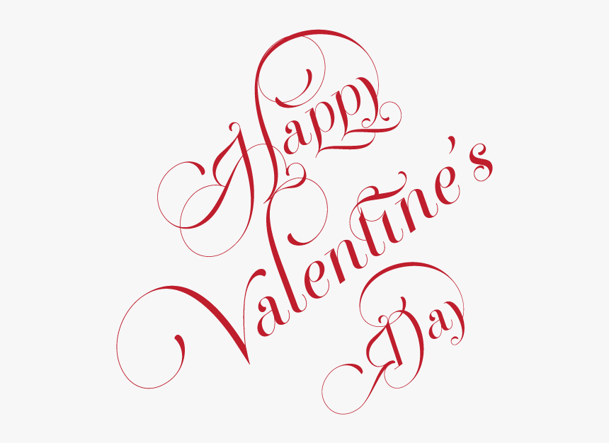 """Happy Valentine""""s Day Curly - Calligraphy, HD Png Download, Free Download"""