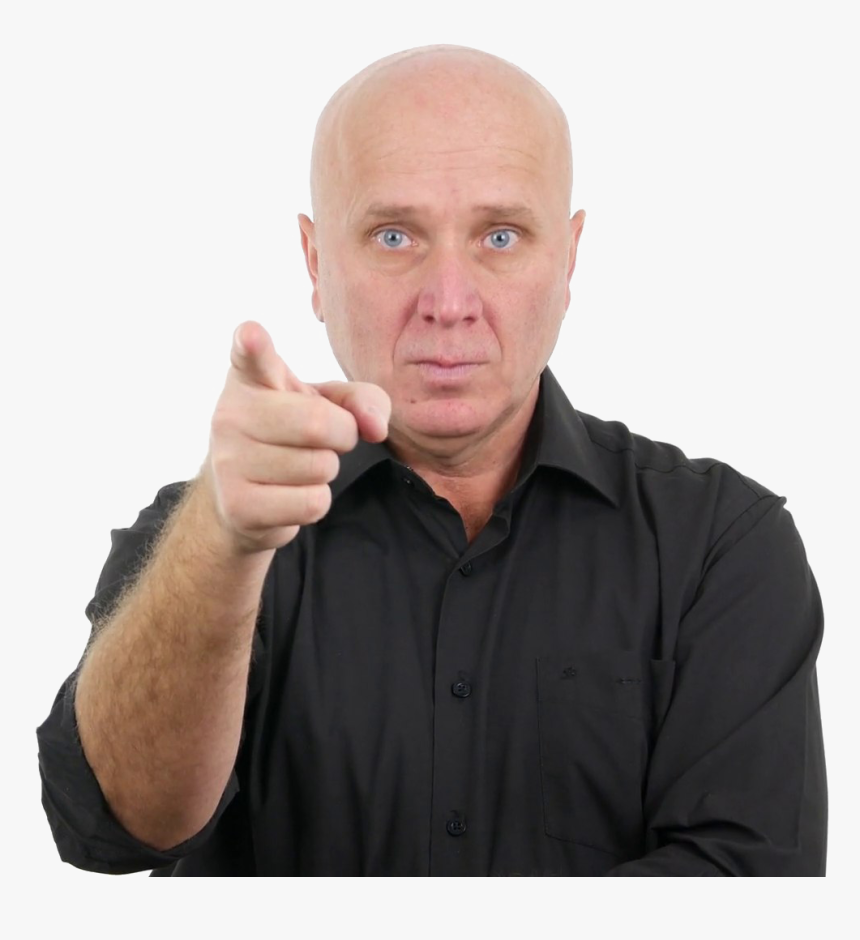 Man Pointing Finger Png Free Download - Person Pointing At You Free, Transparent Png, Free Download