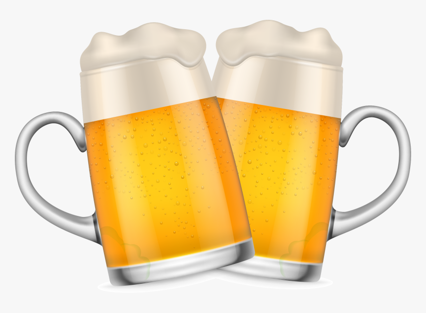 Transparent Beer Glass Silhouette Png - Beer Mugs Cheers Png, Png Download, Free Download