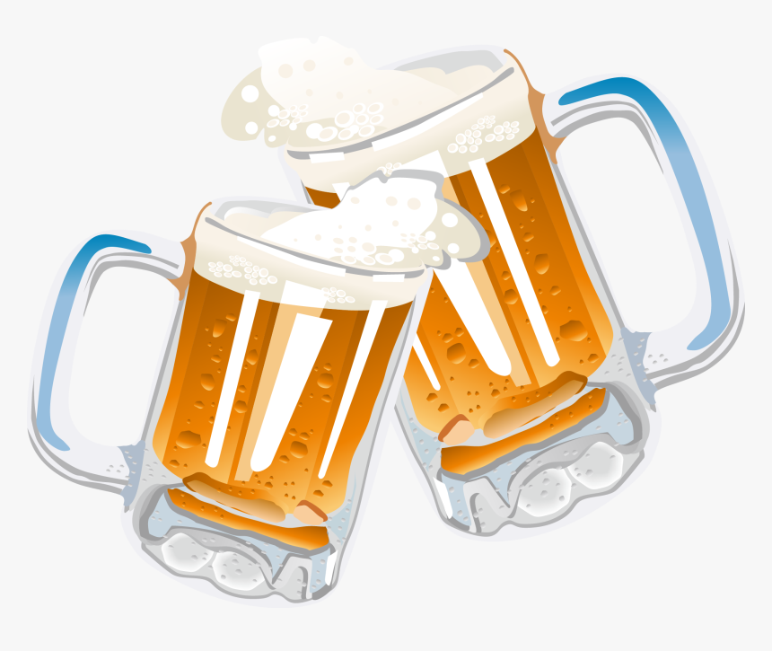 Clip Art Beer Cheers Clipart - Transparent Background Beer Clipart, HD Png Download, Free Download
