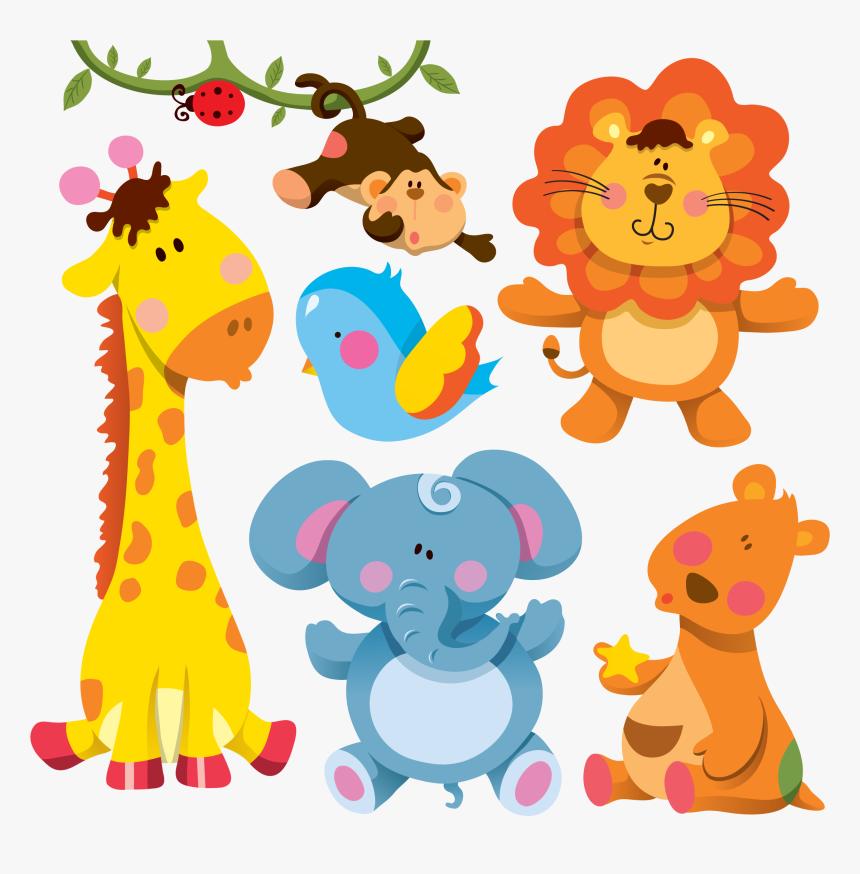 Giraffe Cartoon Animal Illustration - Cute Cartoon Wild Animals, HD Png Download, Free Download