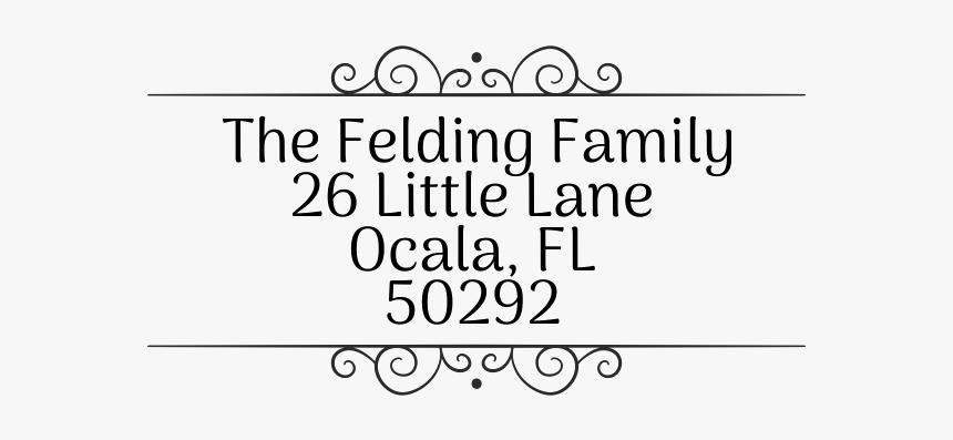 "Felding Fancy Border Address Stamp"" title=""felding - Calligraphy, HD Png Download, Free Download"