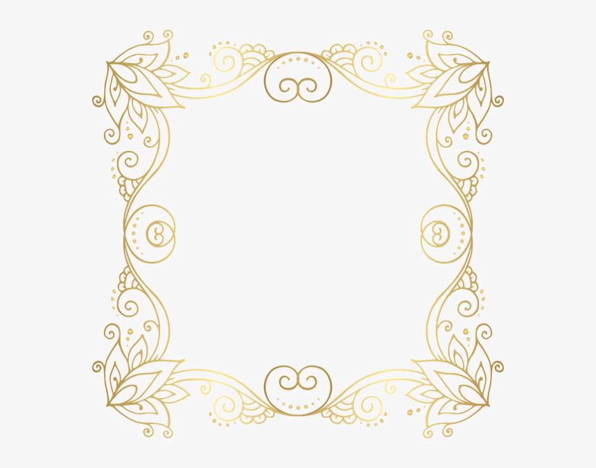 Graphic Royalty Free Download Gold Frame Png Clip Art - Designing Of Photo Frame, Transparent Png, Free Download