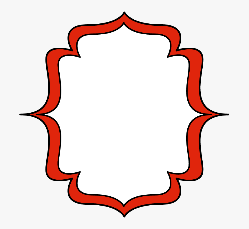 Bracket Frame Clipart - Red Clipart Frame Png, Transparent Png, Free Download
