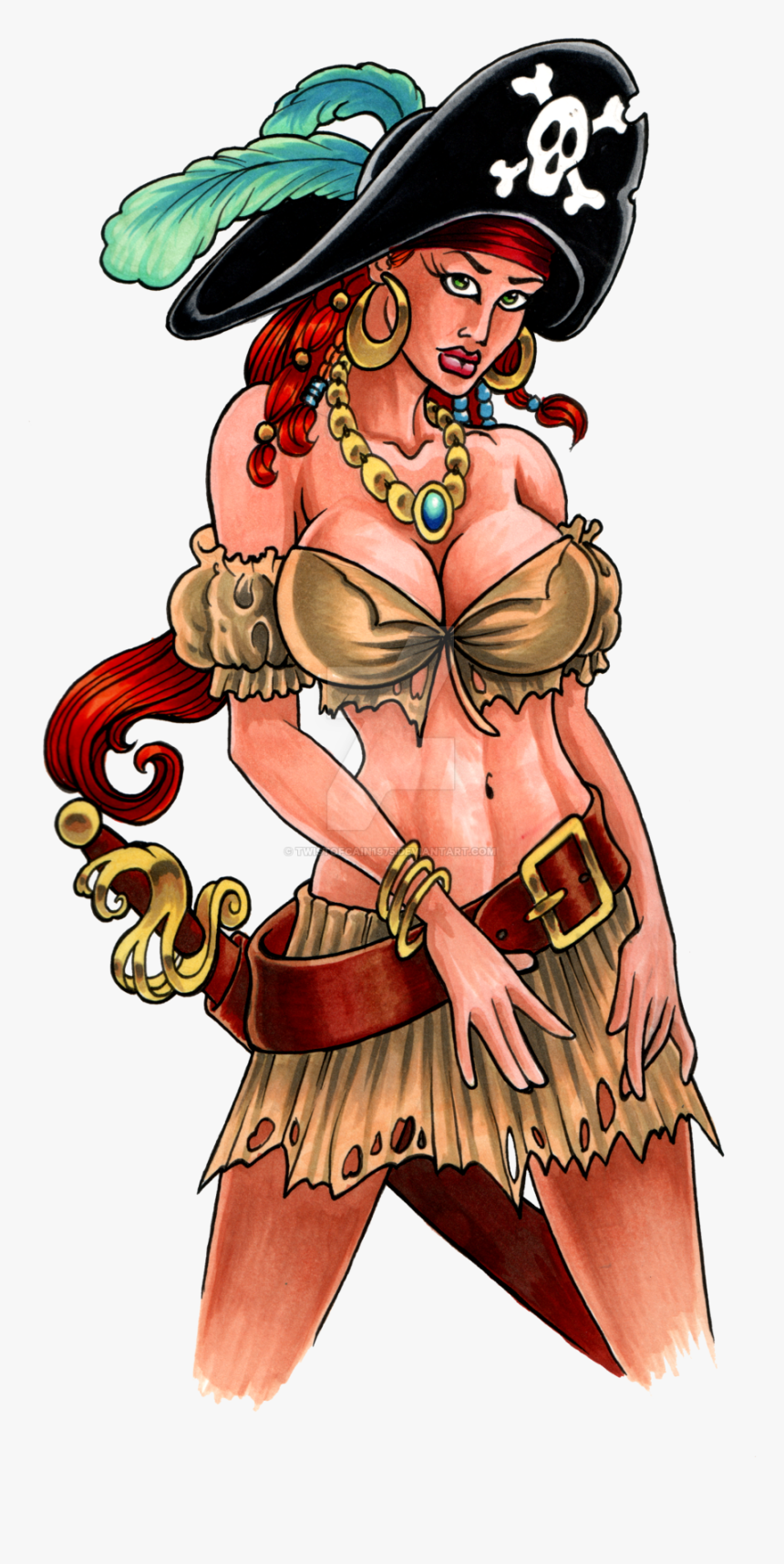 Another Pirate Girl By Twistofcain1975 Another Pirate - Hot Girls Cartoon Image Hd, HD Png Download, Free Download