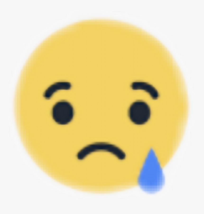 Awesome Sad Reaction Facebook Stickers Yellowublue Sad Facebook Emoji Png Transparent Png Kindpng