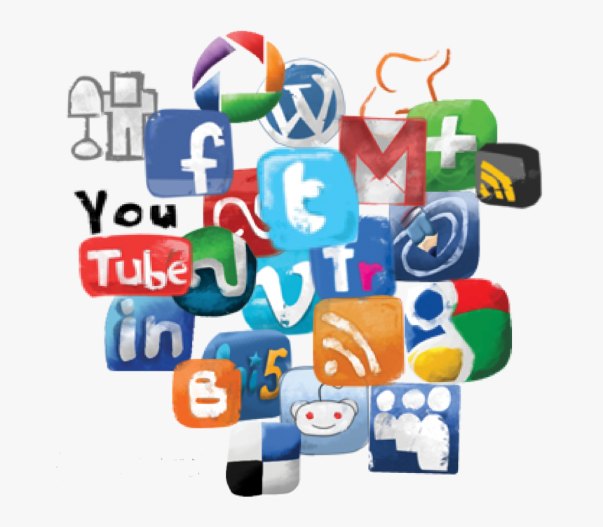 Social Cluster - Social Media Clipart Png, Transparent Png, Free Download