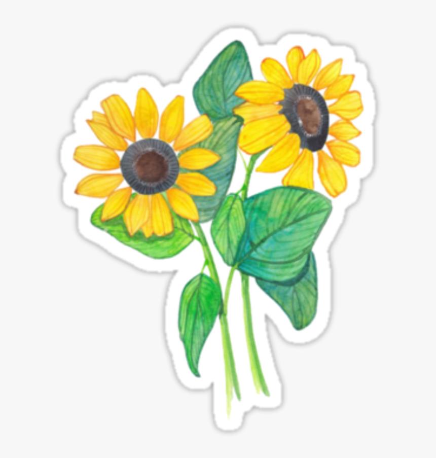 Tumblr Flowers Sticker Png Picsart 🌼💛✨ - Stickers Tumblr Flores, Transparent Png, Free Download