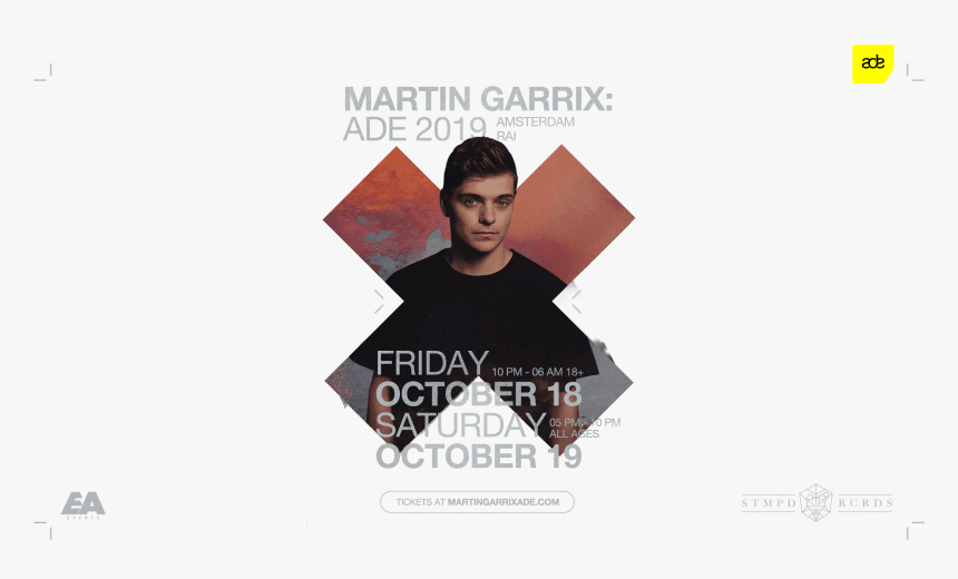 Transparent Martin Garrix Logo Png - Martin Garrix Ade 2019, Png Download, Free Download