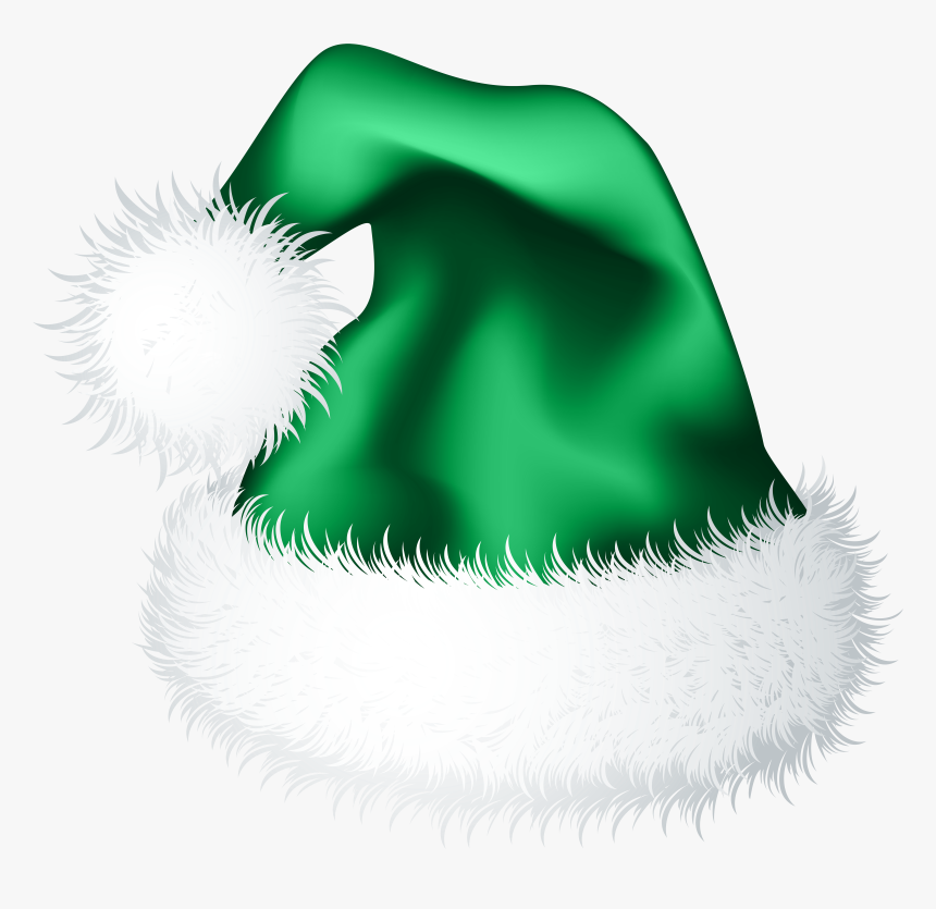 Christmas Hat Png Green - Christmas Hat Vector Blue, Transparent Png, Free Download