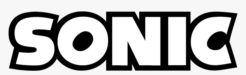 Sonic Logo Png Sonic The Hedgehog Logo Black And White Transparent Png Kindpng