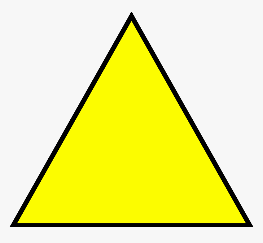 Yellow Triangle Transparent Background, HD Png Download, Free Download