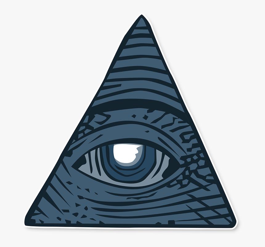 Illuminati Triangle Png - Pyramid Png Illuminati, Transparent Png, Free Download