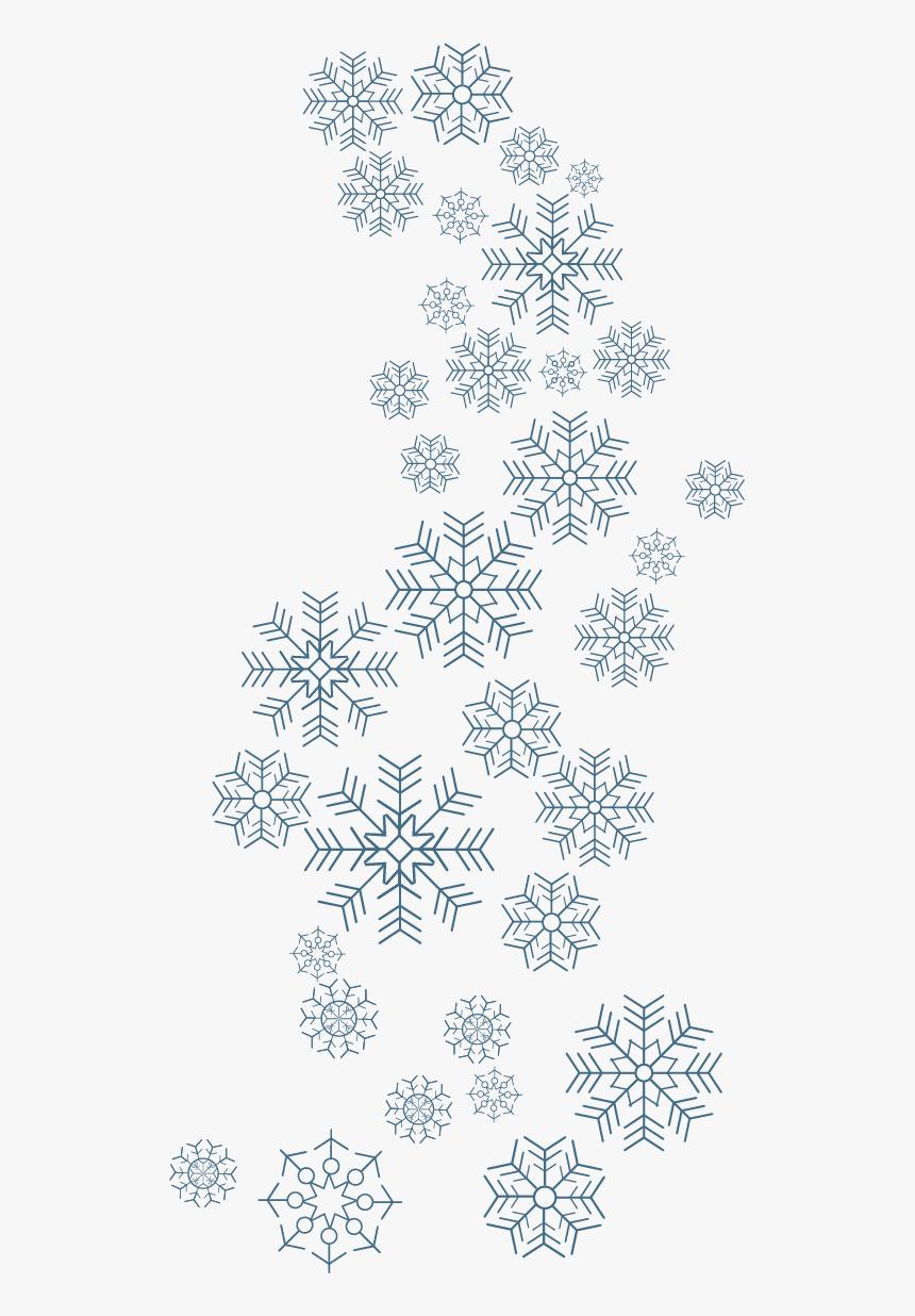 Beautiful Flurries Winter Snow Vector Snowflake Schema - Vector Snowflake Transparent, HD Png Download, Free Download