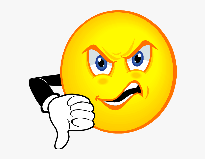 Thumbs Down Smiley Hd Png Download Kindpng