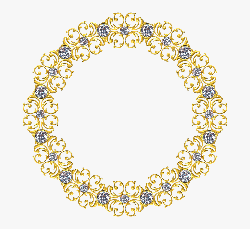 Gold, Frame, Round, Border, Decoration, Decor - Gold Circle Border Png, Transparent Png, Free Download