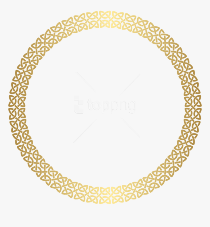 Round Gold Frame Png - Rose Gold Place Mats, Transparent Png, Free Download