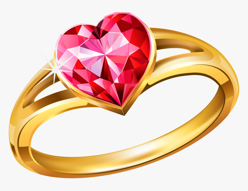 Gold Ring With Diamonds Png Image - Ring Png, Transparent Png, Free Download