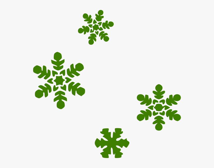 Green Snow Flakes Svg Clip Arts - Snowflake Clipart, HD Png Download, Free Download