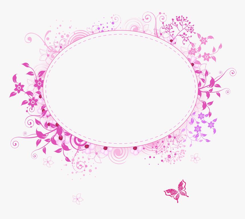 Pink Round Frame Png - Pink Frame Transparent Background, Png Download, Free Download