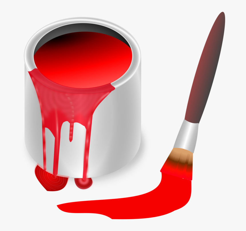 Bucket, Color, Red, Brush, Painting, Paint, Tool - Blue Paint Bucket Clipart, HD Png Download, Free Download