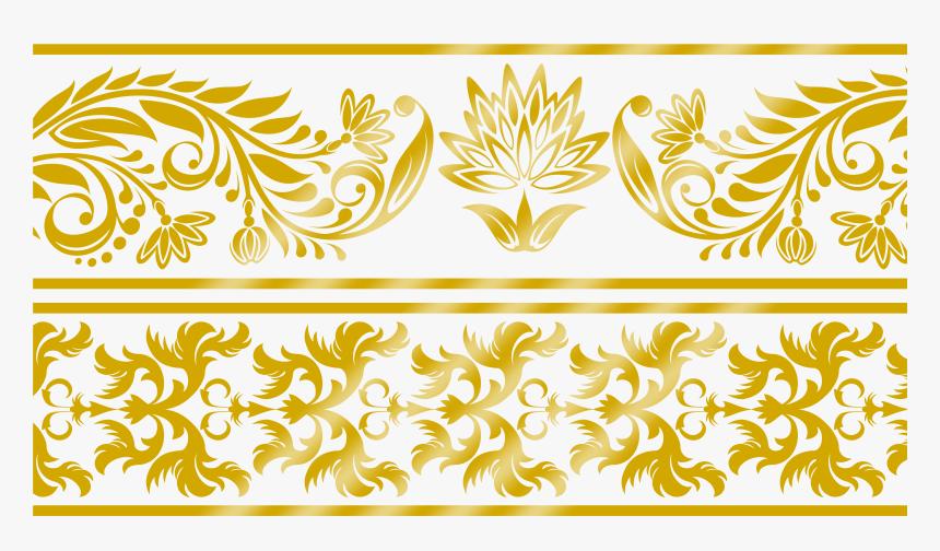 Transparent Lace Clip Art - Design Golden Border Png, Png Download, Free Download
