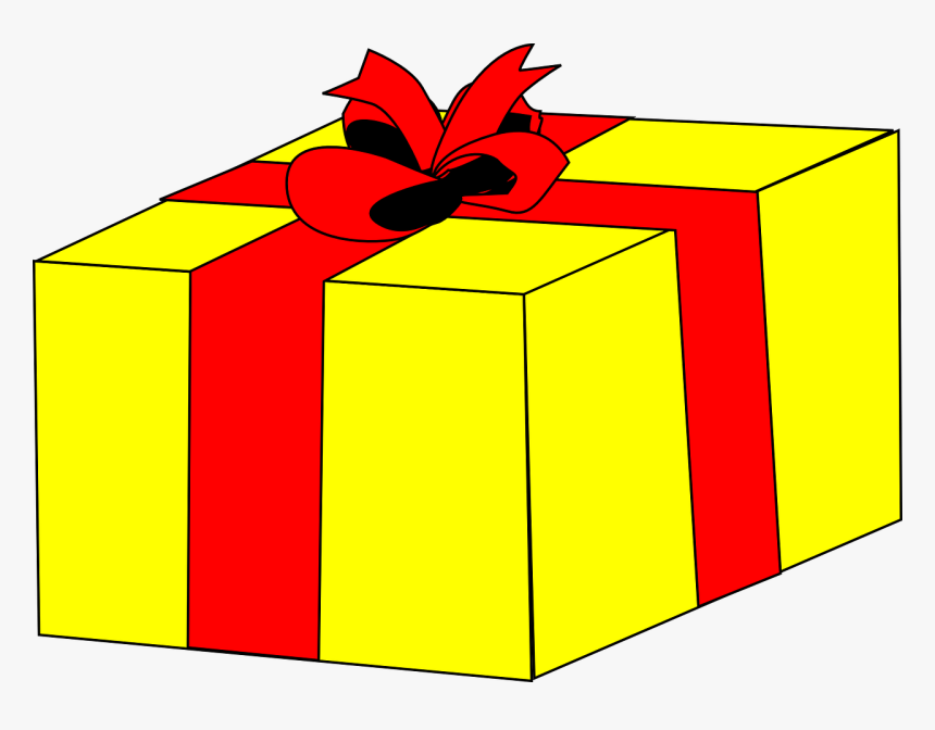 Present Clipart Christmas Presents Clip Art - Yellow Gift Clipart, HD Png Download, Free Download
