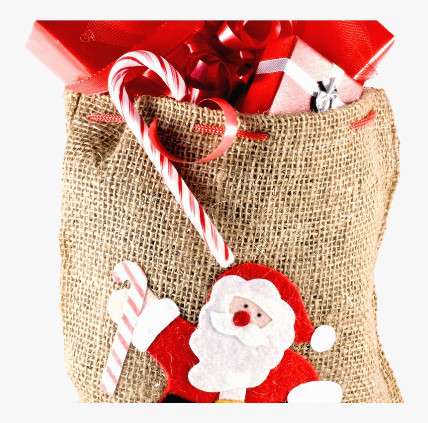Christmas Sack Gift Png Transparent Image - Free Transparent Christmas Present, Png Download, Free Download