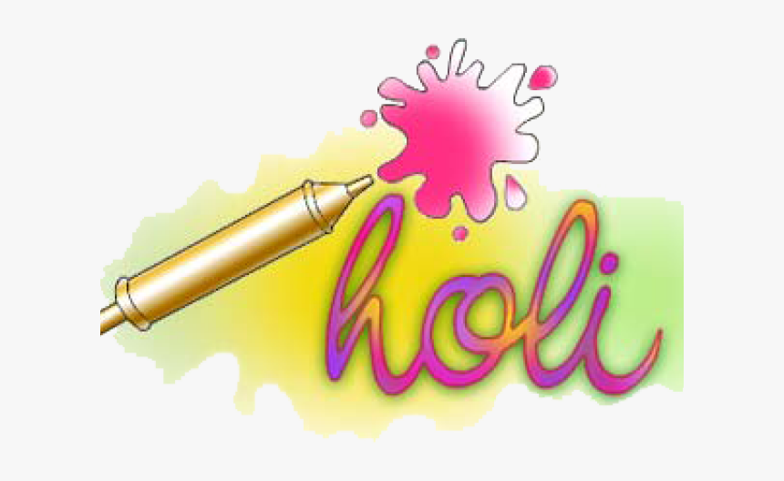 Holi Pichkari Png Transparent Images - Holi Sticker For Whatsapp, Png Download, Free Download