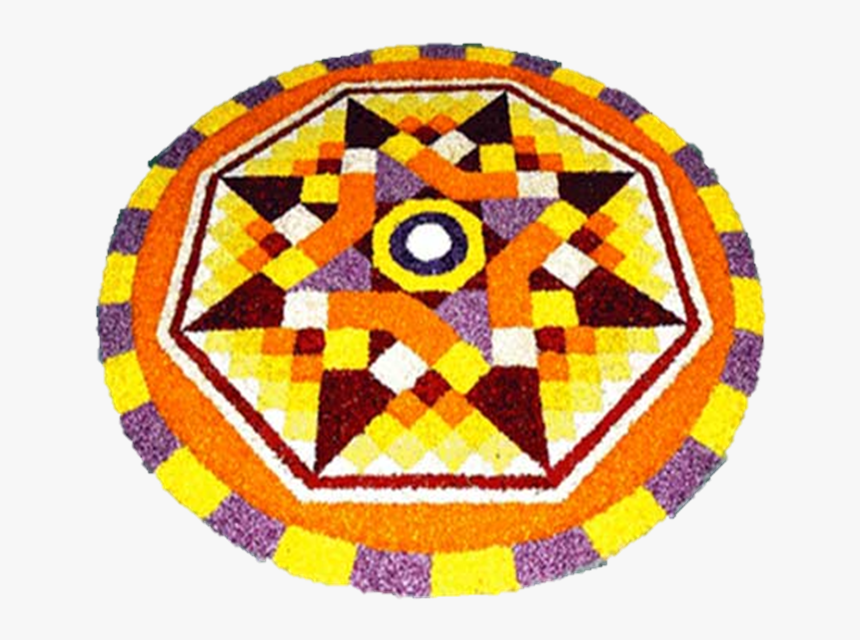 Festival Onam Diwali Holi Rangoli Free Transparent - Onam Pookalam Designs 2019, HD Png Download, Free Download