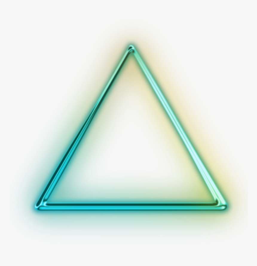 Transparent Neon Glowing Triangle - Neon Triangle Png Hd, Png Download, Free Download