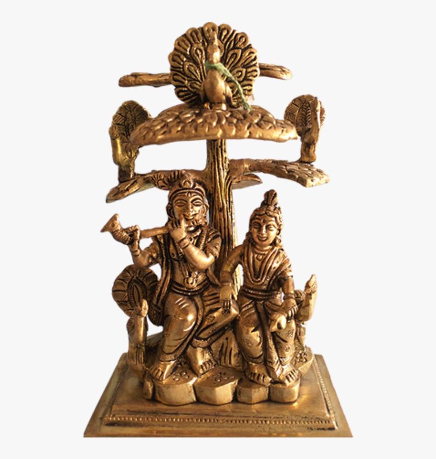 Religious Radhakrishna Sitting Under The Tree With - Lord Radha Krishna Under Tree Brass, HD Png Download, Free Download
