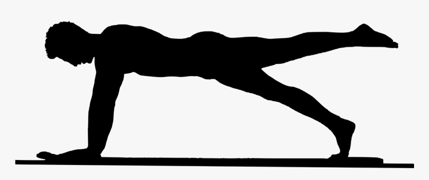 Silhouette Fitness Exercises Exercising Isolated Balancing The Body Clip Art Hd Png Download Kindpng